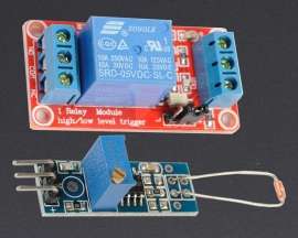 [A145] 3296W Thermal Sensor Module + 5V 1-Channel Relay Optocoupler H/L Level Triger