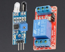 [A147] Obstacle Avoidance Sensor Module + 5V 1-Channel Relay Optocoupler H/L Level Triger