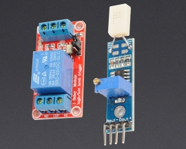 [A148] HR31 Humidity Sensor Module + 5V 1-Channel Relay Optocoupler H/L
