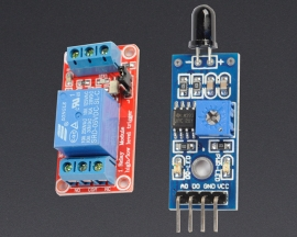 [A149] Flame Detection Sensor Module + 5V 1-Channel Relay Optocoupler H/L