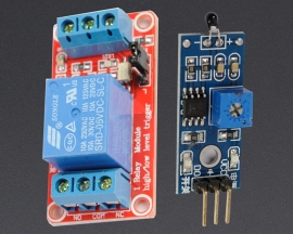 [A152] NTC Thermistor Sensor Module + 5V 1-Channel Relay Optocoupler H/L Level Triger