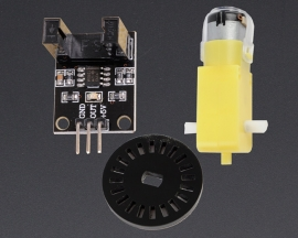 [A156] Speed Sensor Module + TT Motor Code Disc Measure Speed Kit