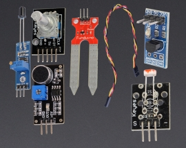 [A162]Common Sensor Module Kit Light/Temp/Sound/Flame/Soil/Rotary