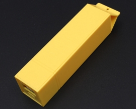 Yellow USB Power Bank Case Kit 18650 Battery Charger Milk DIY Box