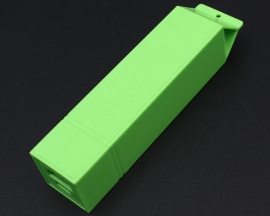 Green USB Power Bank Case Kit 18650 Battery Charger Milk DIY Box