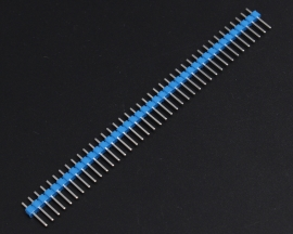 Blue 40Pin 1x40P Male 2.54mm Breakable Pin Header