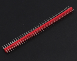 Red 2x40Pin 2x40P Male 2.54mm Breakable Pin Header