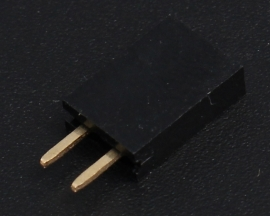 Black 1x2Pin 1x2P Female Pin 2.54mm Socket Connector