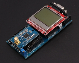 CC2430 Wireless Development Board Kit for ZigBee with Nokia 5110 LCD