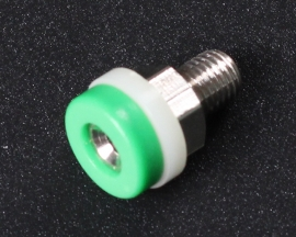 2mm Banana Jack Screw Small Green Female Terminal Block