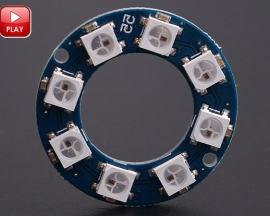 ICStation 8 Particles WS2812 5050 RGB LED Circular Lamp