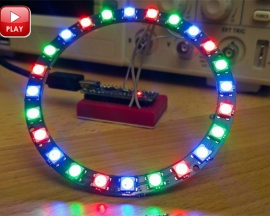 ICStation 24 Particles WS2812 5050 RGB LED Circular Lamp