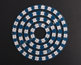 ICStation 60 Particles WS2812 5050 RGB LED Circular Lamp