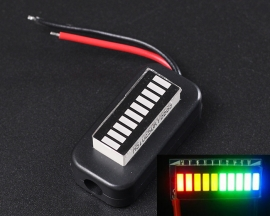 Precision Battery Monitor Four-Color Power Level Indicator 3-30V Adjustable