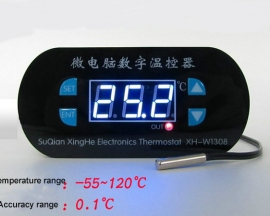 XH-W1308 Temperature Controller Blue Display Switch Heating/Cooling Control