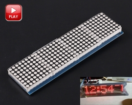 8x32 LED Matrix Screen DS1302 RTC Dot Matrix LED Light DIY Clock Module Project HT1632C