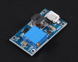 Micro USB DC to DC Voltage Regulator Step Up Boost Converter Adjustable Power Supply Module DC 2V-24V to DC 5V-28V 2A