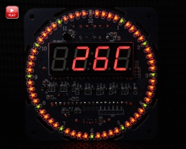DS1302 Rotating LED Display Electronic Clock Temperature Display Time Alarm Clock Module Kit