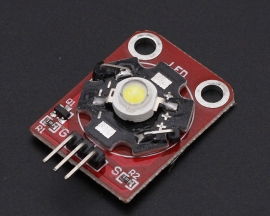 3W White High-Power LED Module with PCB Chassis for Arduino STM32 AVR