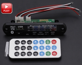 Car Audio Amplifier Bluetooth USB TF MP3 WMA Decoder Board 12V Wireless Audio Decoder Module