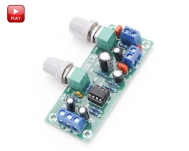 NE5532 Bass Subwoofer Preamp Board Adjustable Low Pass Filter Board Pre-AMP Amplifier Module DC 10-24V Power Supply Board