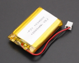 3.7V Lithium Polymer Battery 103450 2000mAh PCM Rechargeable