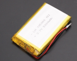 3.7V Lithium Polymer Battery 105080 5000mAh PCM Rechargeable