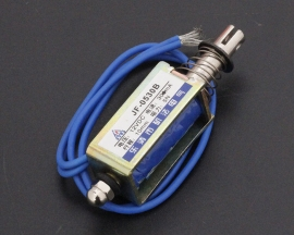 JF-0530B DC12V 300mA 5N/10mm Pull-Push-Type Solenoid Electromagnet