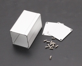 75*46*46mm Slivery PCB Instrument Shell Separated Aluminum Box