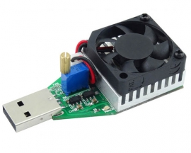 USB DC Electronic Load Module 15W 3A Adjustable USB Discharger