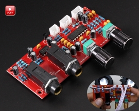 PT2399 NE5532 Karaoke Board Microphone Amplifier Board Preamplifier Reverberation Digital Adjustable Audio Amplifier Module
