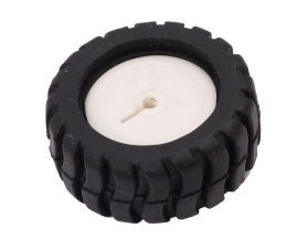 D-Type Axis Rubber Wheel 43MM for NO20 Gear Motor Robotic Car Toy DIY Model