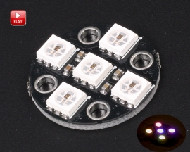 WS2812 5Bit SMD 5050 RGB LED Lamp Panel Board 5V Round LED Module for Arduino