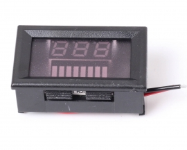Charge Level Blue Indicator Voltmeter for 12V Lead-acid Battery