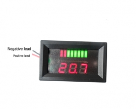 Charge Level Red Indicator Voltmeter for 48V Lead-acid Battery