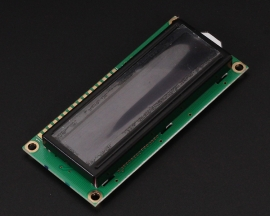 LCD1602A 16x2 3.3V 1602 Green Character LCD Display Module Black Background