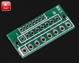 PinBoard 1.27MM 2.0MM 2.54MM 8Pin Converter for Wireless Module