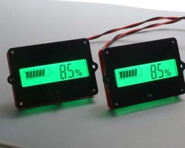 LCD Battery Indicator 12V for 3pcs Lithium Battery Charge Level Display