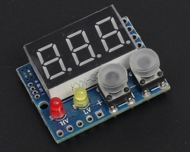 DC 0-99.9V Red LED Panel Digital Voltmeter with Alarm Indicator