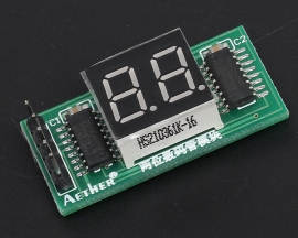 74HC595 2Bit 2-Digit LED Segment Display Module 3.3V-5V Digital Tube