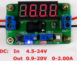 DC-DC Red Constant Voltage And Current Buck Converter Voltmeter Step Down