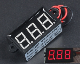 Waterproof Red 0.56in DC3.5-30V Variable Precision Voltmeter