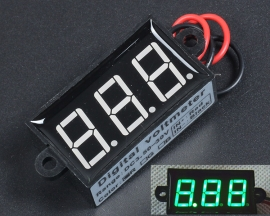 Waterproof Green 0.56in 3Bit DC3.5-30V Variable Precision Voltmeter