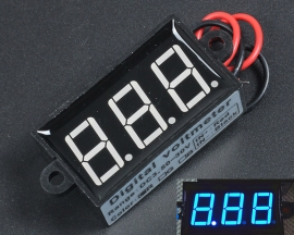 Waterproof 3Bit Blue 0.56in DC 3.5-30V Digital Voltmeter