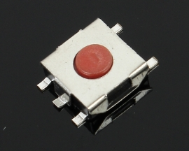 100pcs Tact Switch SMD 5 Pin 6*6*2.5MM Red Push Button Switch Reset Switch