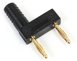2mm Banana Plug Spacing 12mm Pure Copper Gold Plated Short Circuit Double  Row One Female To Two Male Adapter H-2042 Black