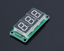 74HC595 Static Drive 3 Segment Digital Display Module 0.5 Inches 3-way Red