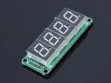 74HC595 Static Drive 4 Segment Digital Display Module 0.5-inch 4 Digits Bright Red Display Board Module