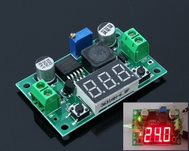 LM2596S High Power Adjustable Step Down Module With Digital LED Display
