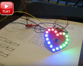 WS2812B Drive SMD 5050 RGB True Color Heart-Shaped Flash LED Development Board